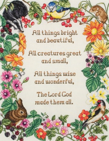 Anchor Cross Stitch Kit - Animal Kits - All Things Bright And Beautiful