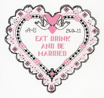 Anchor Cross Stitch Kit - Celebration Kits - Eat Drink And Be Married