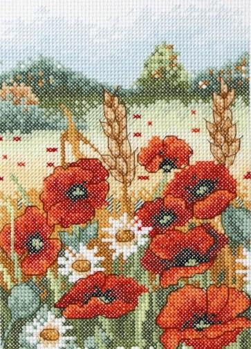 Anchor Cross Stitch Kit - Countryside Cross Stitch Kits - Poppy Field