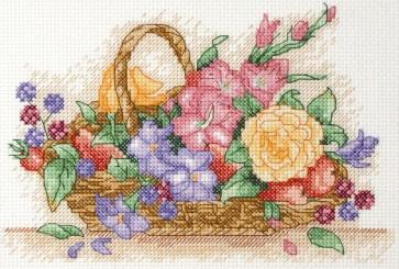 Anchor Cross Stitch Kit - Floral Cross Stitch Kits - Floral Basket