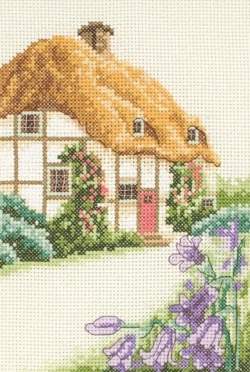 Anchor Cross Stitch Kit - Cottage Cross Stitch Kits - Thatched Cottage