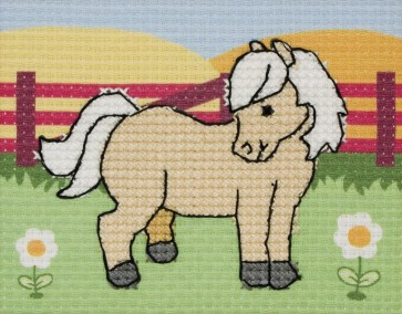 Anchor Cross Stitch Kit - Childrens Cross Stitch Kits - Polly The Palomino