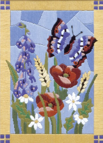 Anchor Long Stitch Kit - Stained Glass Butterfly