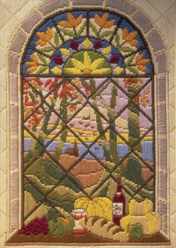 Anchor Long Stitch Kit - Autumn Through The Window