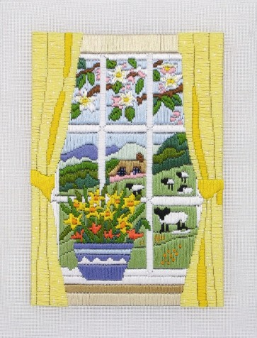 Anchor Long Stitch Kit - Spring Through The Window