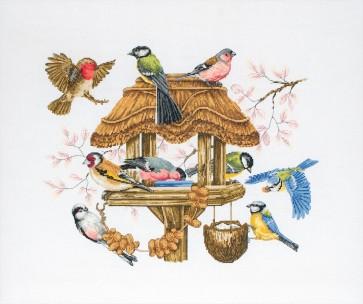Anchor Cross Stitch Kit - Bird Kits - Bird Table