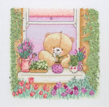 Anchor Cross Stitch Kit - Forever Friends Kits - Floral Window