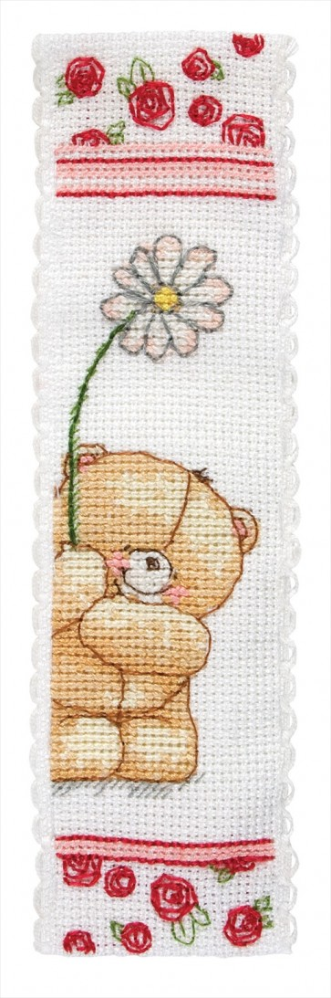 Anchor Cross Stitch Kit - Forever Friends Kits - Floral Bookmark