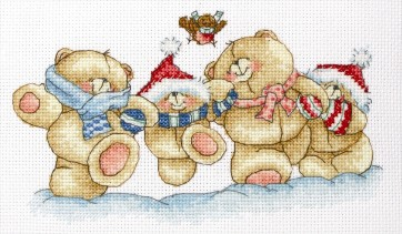 Anchor Cross Stitch Kit - Forever Friends Kits - Snowy Days