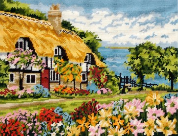 Anchor Tapestry Kit - Seaview Cottage