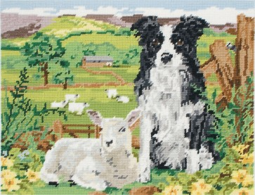 Anchor Tapestry Kit - Border Collie And Lamb