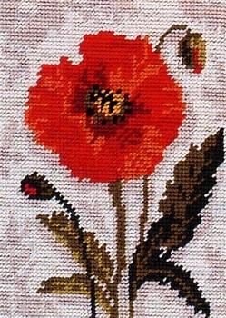 Anchor Tapestry Kit - Poppy