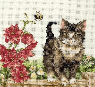 Cat With Flowers - PCE591