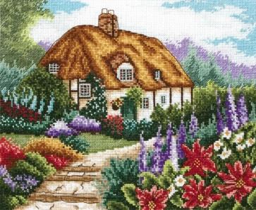 Anchor Cross Stitch Kit - Cottage Kits - Cottage Garden In Bloom