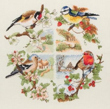 Anchor Cross Stitch Kit - Bird Kits - Birds And Seasons