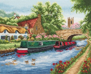 Anchor Cross Stitch Kit - Trains, Cars and Boats Kits -Waterways