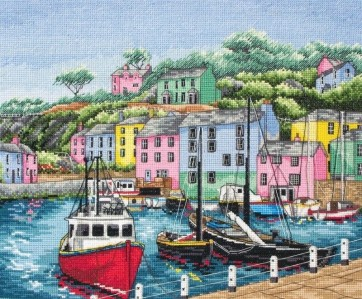 Anchor Cross Stitch Kit - Trains, Cars and Boats Kits - Harbour