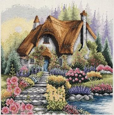 Anchor Cross Stitch Kit - Cottage Kits - Lakeside Cottage