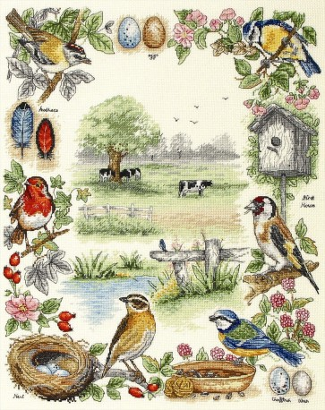 Anchor Cross Stitch Kit - Bird Kits - Birds Sampler