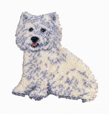Anchor Latch Hook Rug Kit Westie