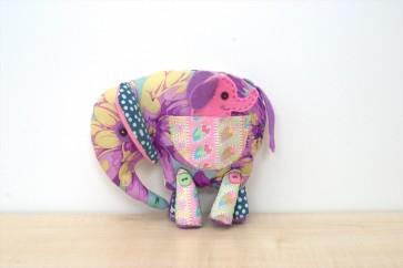 Patchwork Elephant & Finger Puppet Baby - RDK07