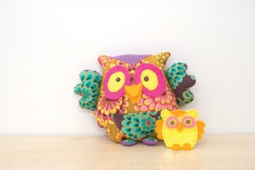 Patchwork Owl & Finger Puppet Baby - RDK08