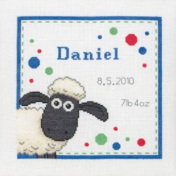 Shaun Birth Sampler - SS00006