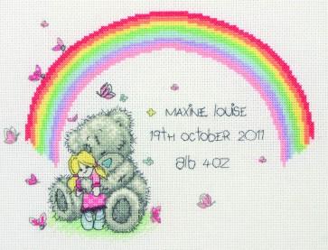 Rainbow Birth Sampler - TT218