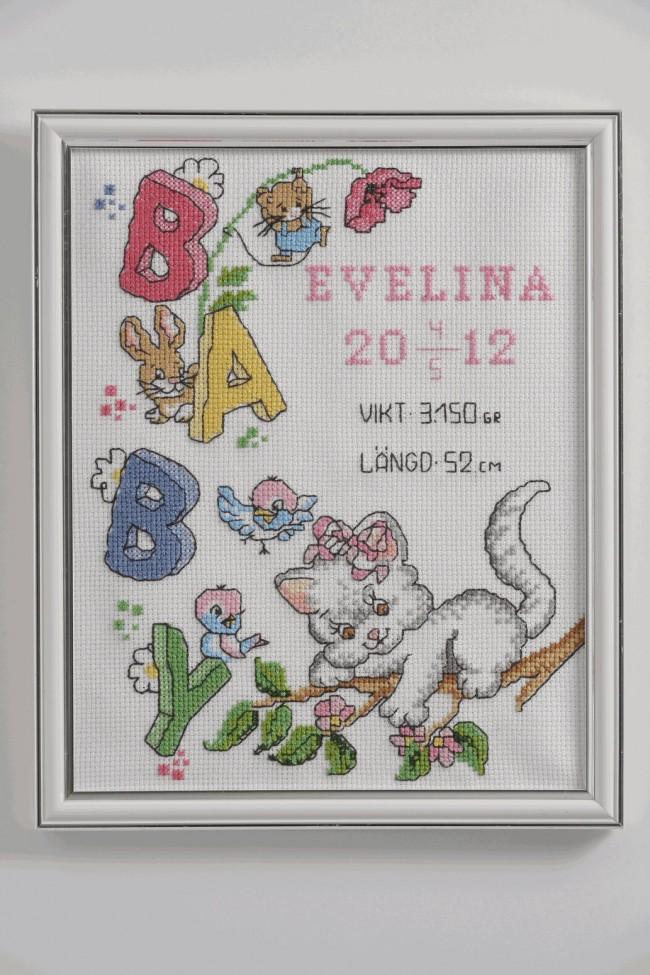 Anchor Cross Stitch Kit Celebration Kits Evelina Birth