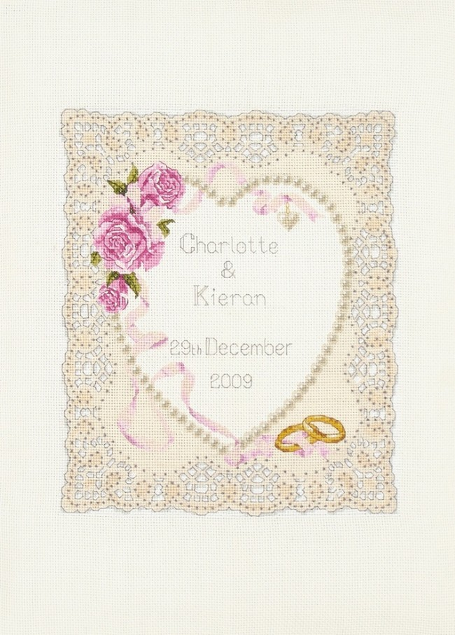 Anchor Cross Stitch Kit Celebration Kits Floral Heart