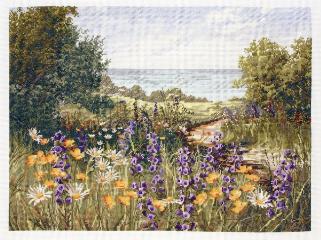 Anchor Cross Stitch Kit Countryside Kits Clifftop Footpath