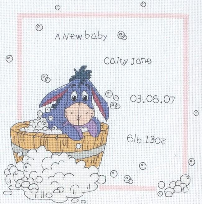 Anchor cross stitch kit winnie the pooh kits eeyore for Punto croce disney winnie the pooh