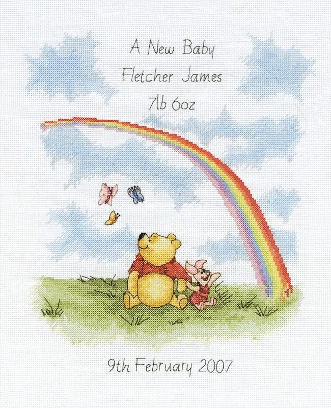 Anchor Cross Stitch Kit Winnie The Pooh Kits Rainbow
