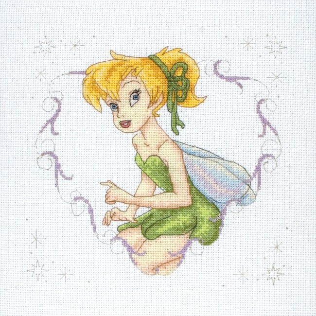 Anchor Cross Stitch Kit Disney Kits Tinkerbell Heart