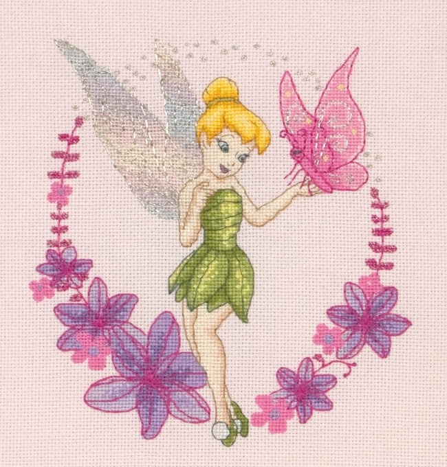 Anchor Cross Stitch Kit Disney Kits Tinkerbell Amp Butterfly