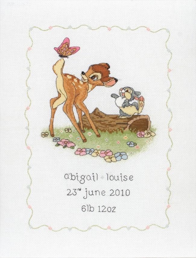 Anchor Cross Stitch Kit Disney Kits Bambi Birth Sampler