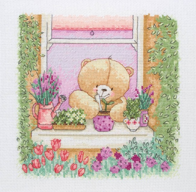 Anchor Cross Stitch Kit Forever Friends Kits Floral Window