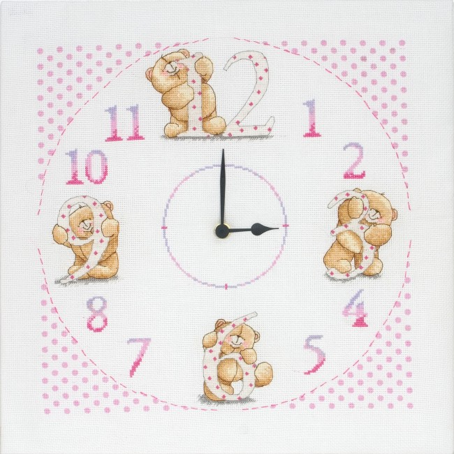Anchor Cross Stitch Kit Forever Friends Kits Clock
