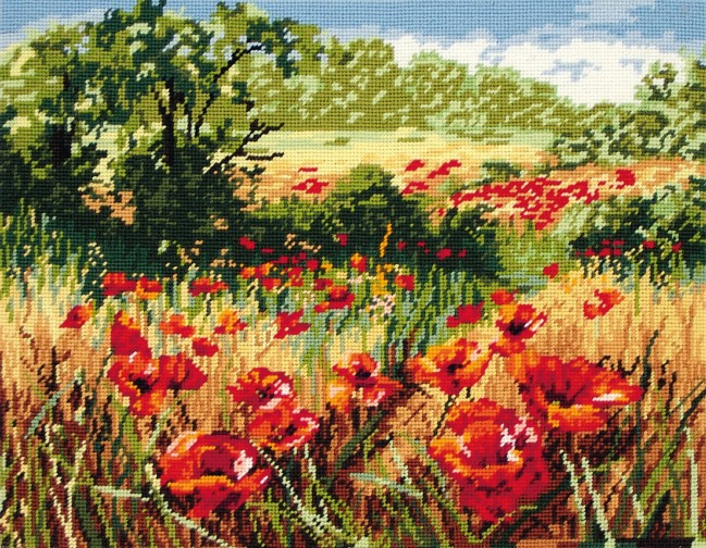 Anchor Tapestry Kit A Host Of Poppies