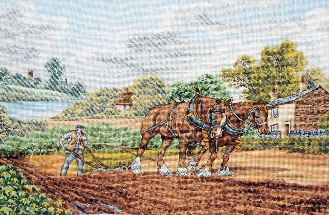 Anchor Cross Stitch Kit - Horse Kits - Shire Horses
