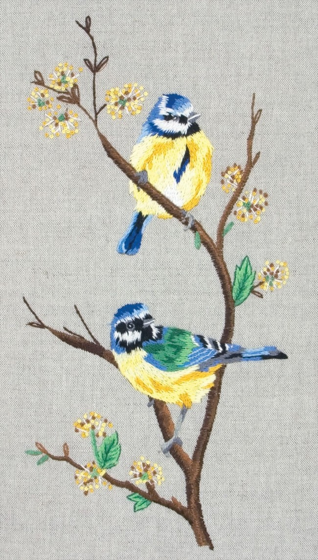 Anchor Embroidery Kit Blue Tits