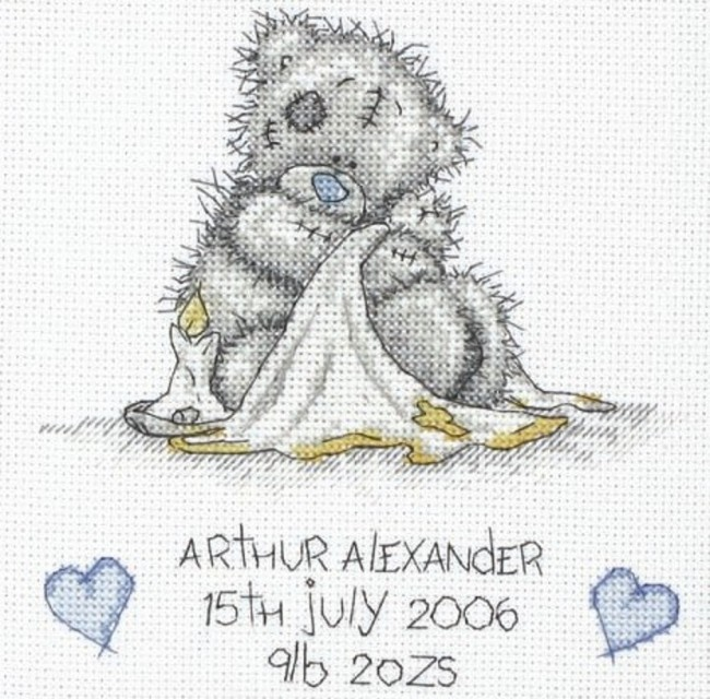 Anchor Cross Stitch Kit Tatty Teddy Kits Birth Sampler