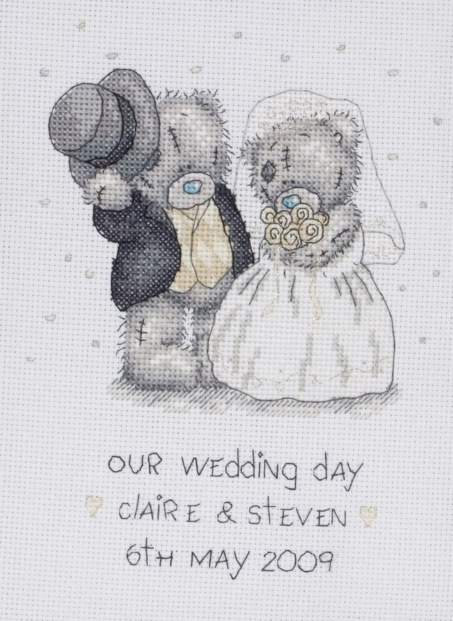 Anchor Cross Stitch Kit Tatty Teddy Kits Our Wedding Day