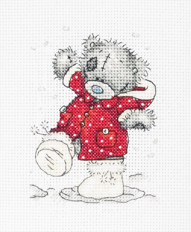 Anchor Cross Stitch Kit Tatty Teddy Kits Christmas Coat